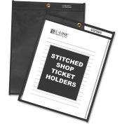 C-Line Products Shop Ticket Holders, Stitched, One Side Clear, 9 x 12, 25/BX