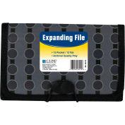 C-Line Products 13-Pocket Coupon Size Expanding File, Fashion Circle Series, 12 Files/Set
