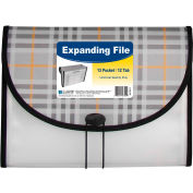 C-Line Products 13-Pocket Letter Size Expanding File, Plaid - Pkg Qty 3