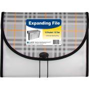 C-Line Products 13-Pocket Letter Size Expanding File, Plaid, 12 Files/Set
