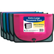 C-Line Products Extra Large Document Case, Stitched, Assorted Color - 24/Set