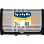 C-Line Products 13-Pocket Coupon Size Expanding File, Plaid, 12 Files/Set