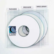 C-Line Products Individual CD/DVD Holders with Index Tabs, Clear, 9/PK - Pkg Qty 4