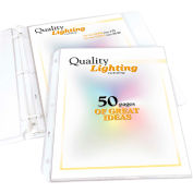 C-Line Products High Capacity Polypropylene Sheet Protector, Clear, 11 x 8 1/2, 25/BX - Pkg Qty 4