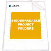 C-Line Products Biodegradable Project Folders, Reduced Glare, 11 x 8 1/2, 25/BX