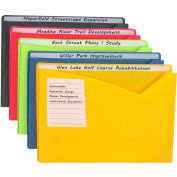 C-Line Products Write-on Poly File Jackets, Assorted, 11 X 8 1/2, 10/PK - Pkg Qty 2