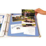 C-Line Products Memory Book Scrapbook Flip Pocket, Clear, 6/PK - Pkg Qty 3