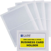 C-Line Products Self-Adhesive Business Card Holder, Side Load, 2 x 3 1/2, 10/PK - Pkg Qty 5