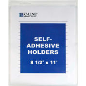 C-Line Products Self-Adhesive Shop Ticket Holder, 8 1/2 x 11, 50/BX