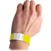 C-Line Products DuPont Tyvek Security Wristbands, Yellow, 100/PK - Pkg Qty 2