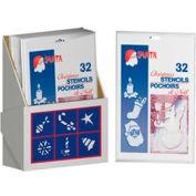 Santa® Stencil Display 36 Pieces/Case - 499-0544D
