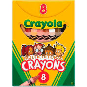 Crayola® Multicultural Crayons, Nontoxic, Assorted, 8/Box