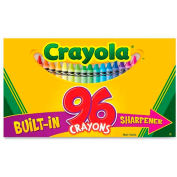 Crayola® Regular Crayons, Built-In Sharpener, Assorted, 96/Box