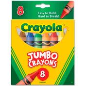 Crayola® Jumbo Crayons, Nontoxic, Assorted, 8/Box