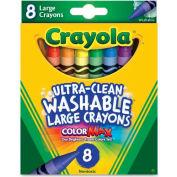 Crayola® Large Washable Crayons, Nontoxic, Assorted, 8/Box