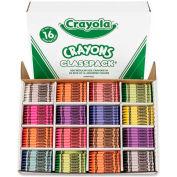 Crayola® Crayons Classpack, 16 Colors, 800/Box