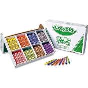 Crayola® Jumbo Crayons Classpack, 8 Colors, 200/Box