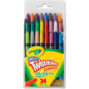 Crayola® Mini Twistable Crayons, Nontoxic, Assorted, 24/Pack