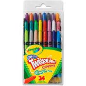 Crayola® Mini Twistable Crayons, Nontoxic, Assorted, 24/Pack