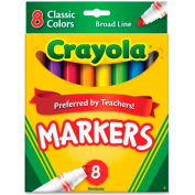 Crayola® Classic Markers, Conical Tip, Assorted, 8/Set