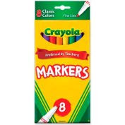 Crayola® Classic Markers, Fine Tip, Assorted, 8/Set