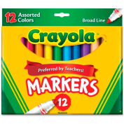 Crayola® Classic Markers, Conical Tip, Assorted, 12/Set