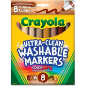 Crayola® Multicultural Washable Markers, Broad Line, Assorted, 8/Set