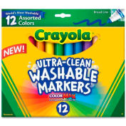 Crayola® Washable Markers, Conical Tip, Nontoxic, Assorted, 12 /Set