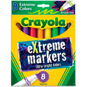 Crayola® Ultra Bright eXtreme Markers, Nontoxic, Assorted, 8/Set