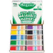Crayola® Washable Markers Classpack, Fine Line, 10 Assorted Colors, 200/Box