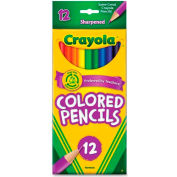 Crayola® Colored Pencils, Sharpened, Assorted, 12/Set