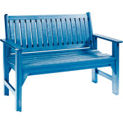 "Generations Garden Bench, Blue, 48""L x 24""W x 36""H"
