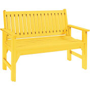 "Generations Garden Bench, Yellow, 46""L x 20-1/2""W x 36""H"