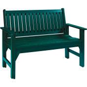 "Generations Garden Bench, Green, 46""L x 20-1/2""W x 36""H"