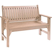 """Generations Garden Bench, Beige, 46""""L x 20-1/2""""W x 36""""H"""