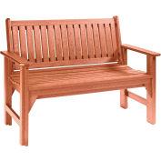 "Generations Garden Bench, Cedar, 46""L x 20-1/2""W x 36""H"