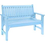 "Generations Garden Bench, Sky Blue, 46""L x 20-1/2""W x 36""H"