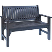 "Generations Garden Bench, Black, 46""L x 20-1/2""W x 36""H"