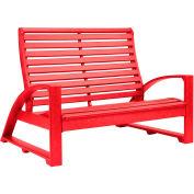 """St. Tropez Love Seat, Red, 50""""L x 41""""W x 38""""H"""