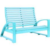 """St. Tropez Love Seat, Aqua, 50""""L x 41""""W x 38""""H"""