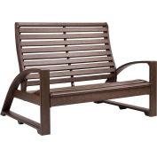 """St. Tropez Love Seat, Chocolate, 50""""L x 41""""W x 38""""H"""