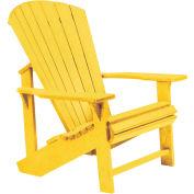 "Generations Adirondack Chair, Yellow, 32""L x 31""W x 40-1/2""H"