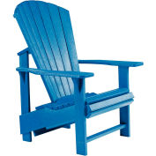 "Generations Upright Adirondack Chair, Blue, 27""L x 31""W x 44""H"