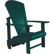 """Generations Upright Adirondack Chair, Green, 27""""L x 31""""W x 44""""H"""