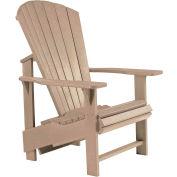 """Generations Upright Adirondack Chair, Beige, 27""""L x 31""""W x 44""""H"""