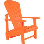 """Generations Upright Adirondack Chair, Orange, 27""""L x 31""""W x 44""""H"""