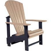 """Generations Upright Adirondack Chair, Beige/Black, 27""""L x 31""""W x 44""""H"""