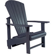 "Generations Upright Adirondack Chair, Black, 27""L x 31""W x 44""H"