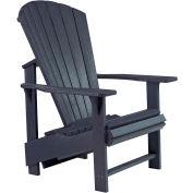 """Generations Upright Adirondack Chair, Black, 27""""L x 31""""W x 44""""H"""
