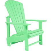 "Generations Upright Adirondack Chair, Lime Green, 27""L x 31""W x 44""H"